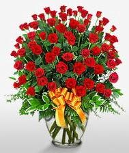 Görsel vazo içerisinde 101 adet gül  Bursadaki çiçekçiler bursaya çiçek yolla
