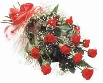 Bursa çiçek büyük orhan yurtiçi ve yurtdışı çiçek siparişi  12 adet kirmizi gül seffaf