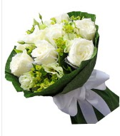 9 adet beyaz gül buketi  Online Bursa çiçekçi