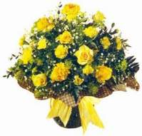 Bursa çiçek büyük orhan yurtiçi ve yurtdışı çiçek siparişi  Sari gül karanfil ve kir çiçekleri