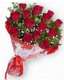 11 kırmızı gülden buket  Bursa çiçek kestel uluslararası çiçek gönderme