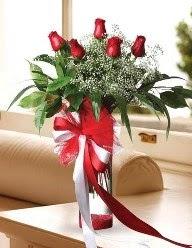 Camda 5 kırmızı gül tanzimi  Çiçekçi Bursa sitesi inegöl çiçek mağazası , çiçekçi adresleri