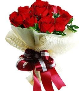 9 adet kırmızı gülden buket tanzimi  Çiçekçi Bursa sitesi nilüfer anneler günü çiçek yolla