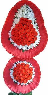 Çiçekçi Bursa sitesi orhangazi çiçek satışı  Çift katlı kaliteli düğün açılış sepeti