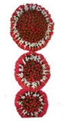Bursa çiçek mustafa kemal paşa çiçek siparişi sitesi  3 katli Beyaz glayöllerden sepet