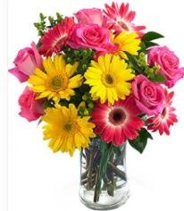 Vazoda Karışık mevsim çiçeği  Bursa çiçek siparişi