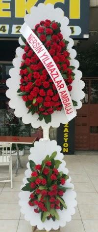 Çift katlı düğün nikah çiçeği modeli  Bursa çiçek satışı Bursa çiçek yolla