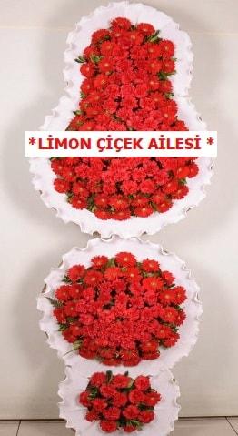 3 katlı kırmızı düğün açılış çiçeği  Bursa çiçek iznik çiçek online çiçek siparişi