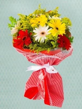 Karışık Gelbera Buketi  Online Bursa çiçekçi