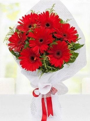 Kırmızı Gelbera Buketi  Bursadaki çiçekçi bursaya çiçek
