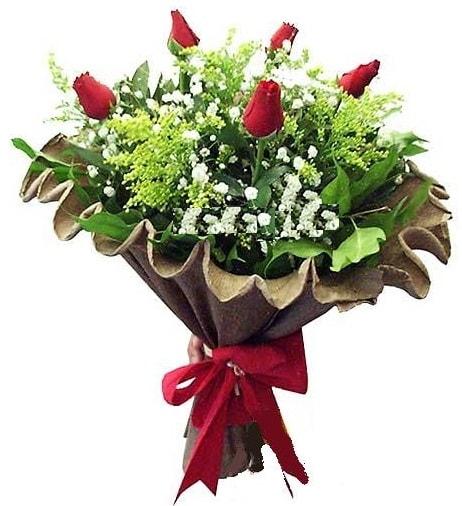 5 adet gülden buket  Çiçekçi Bursa sitesi nilüfer anneler günü çiçek yolla