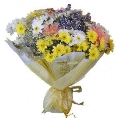 Karışık mevsim çiçeği  Bursa çiçekçi inegöl kaliteli taze ve ucuz çiçekler