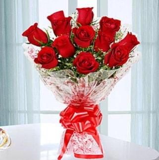 11 adet kırmızı gülden görsel şık buket  Bursa çiçek yolla osmangazi online çiçekçi , çiçek siparişi