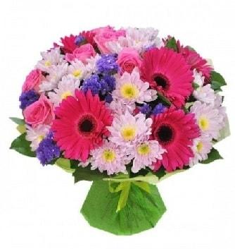 Karışık mevsim buketi mevsimsel buket  Bursa çiçekçi inegöl kaliteli taze ve ucuz çiçekler