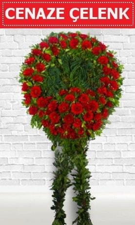 Kırmızı Çelenk Cenaze çiçeği  Bursa çiçekçiler nilüfer cicekciler , cicek siparisi