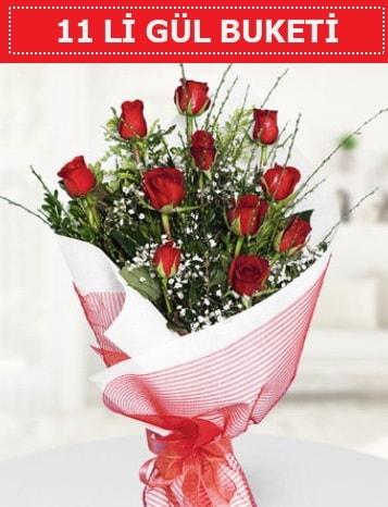 11 adet kırmızı gül buketi Aşk budur  Çiçekçi Bursa sitesi nilüfer anneler günü çiçek yolla