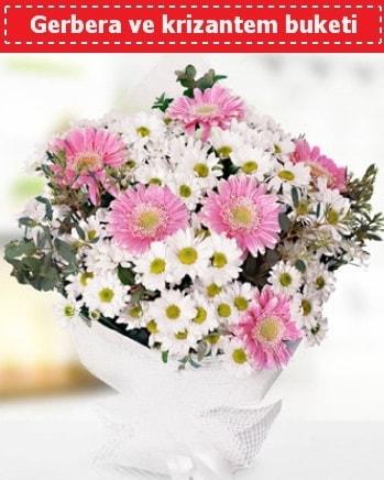 Papatya ve Gerbera Buketi  Bursa çiçek büyük orhan yurtiçi ve yurtdışı çiçek siparişi