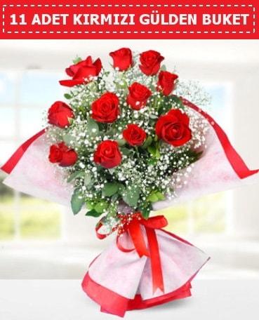 11 Adet Kırmızı Gül Buketi  Bursadaki çiçekçi bursaya çiçek
