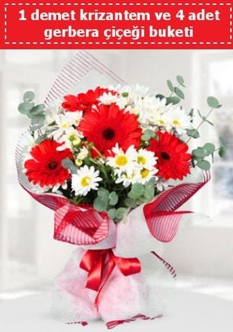 Krizantem ve Gerbera Buketi  Online Bursa çiçekçi