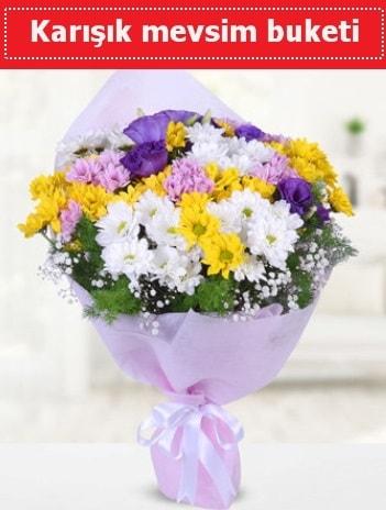 Karışık Kır Çiçeği Buketi  Bursa çiçek kestel uluslararası çiçek gönderme