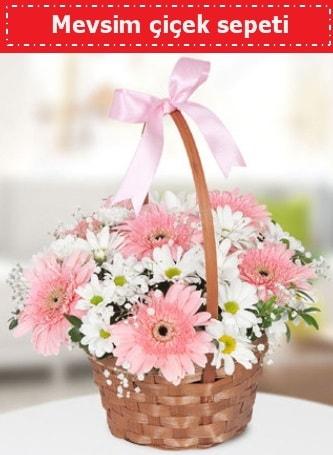 Mevsim kır çiçek sepeti  Bursa çiçek büyük orhan yurtiçi ve yurtdışı çiçek siparişi